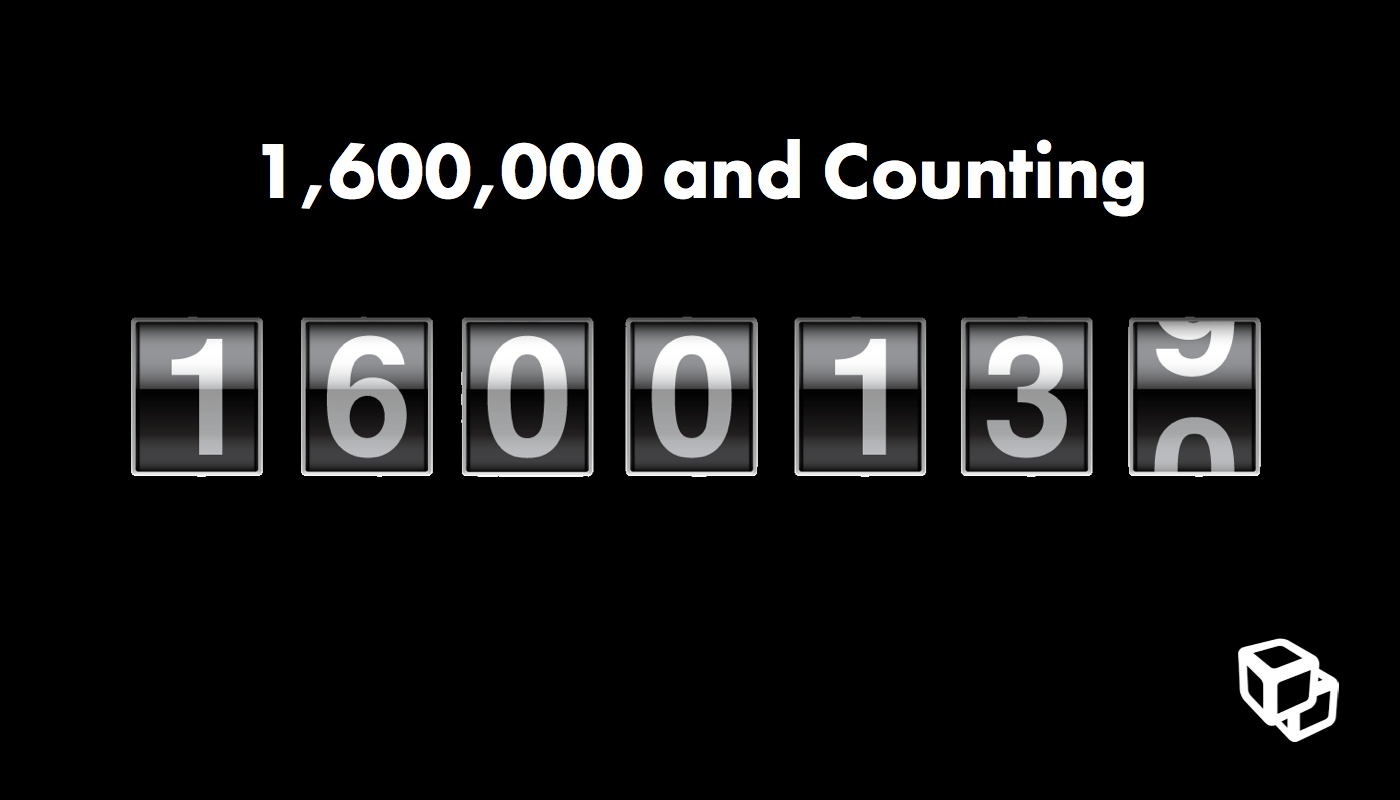 1600000 and counting