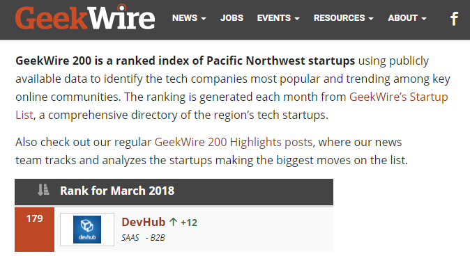 GeekWire 200 March 2018
