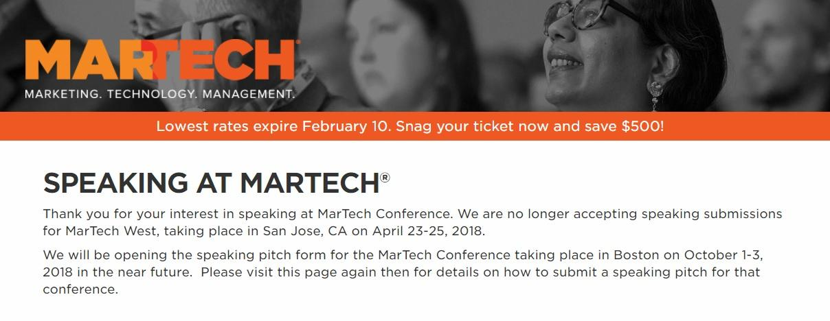 Martech Conference 2018